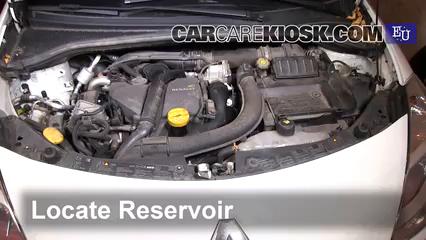 2011 Renault Clio dCi 1.5L 4 Cyl. Turbo Diesel Líquido limpiaparabrisas Controlar nivel de líquido