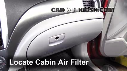 2011 Subaru Forester X 2.5L 4 Cyl. Filtro de aire (interior)