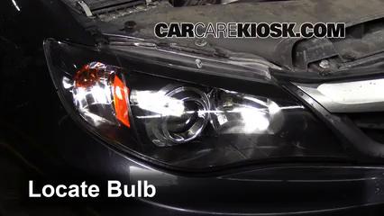 2011 Subaru Impreza 2.5i Premium 2.5L 4 Cyl. Wagon Luces Faro delantero (reemplazar foco)