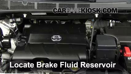 2011 Toyota Sienna XLE 3.5L V6 Líquido de frenos