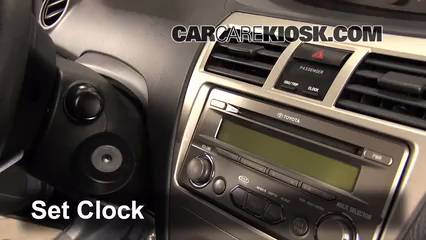 2011 Toyota Yaris 1.5L 4 Cyl. Sedan Clock