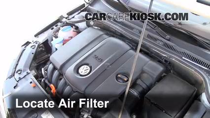 2011 Volkswagen Jetta SE 2.5L 5 Cyl. Sedan Air Filter (Engine)
