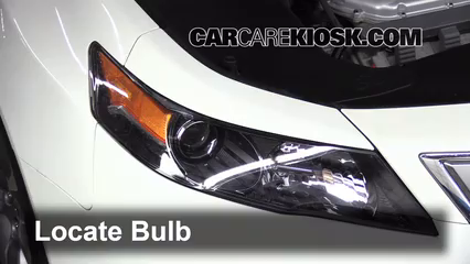 Headlight Change Acura TL Acura TL L V - Acura tl headlight bulb