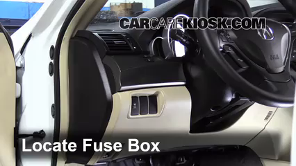 interior fuse box location: 2009-2014 acura tl