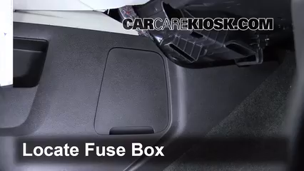 Interior Fuse Box Location: 2010-2017 Chevrolet Equinox