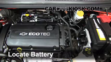 2012 Chevrolet Sonic LT 1.8L 4 Cyl. Sedan%2FBattery Locate Part 1 battery replacement 2012 2016 chevrolet sonic 2012 chevrolet 2012 chevy sonic wiring diagram at crackthecode.co