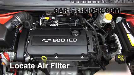 2012 2016 Chevrolet Sonic Engine Air Filter Check 2012 Chevrolet