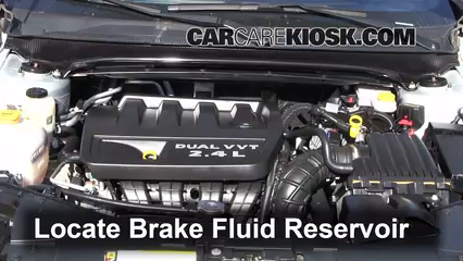 2012 Chrysler 200 LX 2.4L 4 Cyl. Sedan (4 Door) Brake Fluid Check Fluid Level