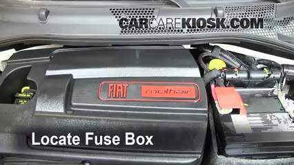 [DIAGRAM_1CA]  Replace a Fuse: 2012-2019 Fiat 500 - 2012 Fiat 500 Pop 1.4L 4 Cyl. | Fuse Box Fiat 500 Pop |  | CarCareKiosk