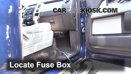 interior fuse box location: 2009-2014 ford f-150