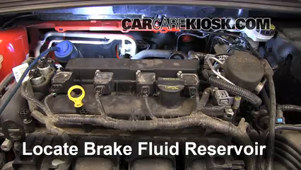 2012 Ford Focus SE 2.0L 4 Cyl. Sedan Brake Fluid Check Fluid Level
