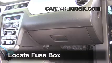 Interior Fuse Box Location: 2010-2014 Ford Mustang - 2012 Ford Mustang GT  5.0L V8 CoupeCarCareKiosk