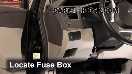 interior fuse box location: 2012-2015 honda civic