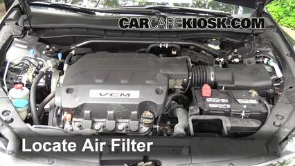 2012 2015 Honda Crosstour Engine Air Filter Check