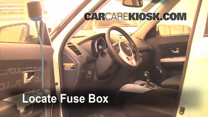 Interior Fuse Box Location: 2010-2013 Kia Soul - 2012 Kia Soul ! 2 0