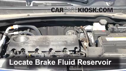 2012 Kia Sportage EX 2.4L 4 Cyl. Brake Fluid