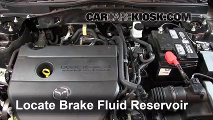 Add Brake Fluid: 2009-2013 Mazda 6 - 2012 Mazda 6 i 2 5L 4 Cyl