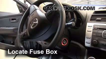 interior fuse box location 2009 2013 mazda 6 2012 mazda 6 i 2 5l rh carcarekiosk com 2005 mazda 6 interior fuse box cover 2005 mazda 6 interior fuse box cover