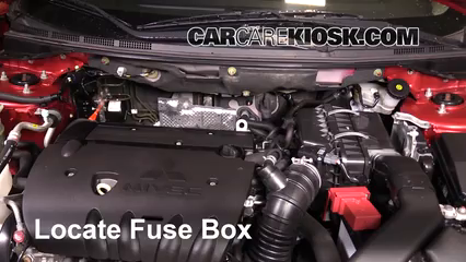 replace a fuse 2008 2017 mitsubishi lancer 2012 mitsubishi lancer 2008 Ridgeline Fuse Box locate engine fuse box and remove cover