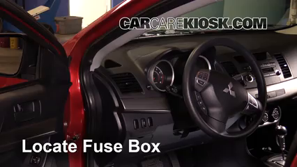 interior fuse box location 2008 2017 mitsubishi lancer 2012 rh carcarekiosk com 2009 mitsubishi lancer fuse box location 2010 mitsubishi lancer fuse box diagram