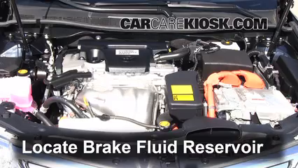 toyota camry brake fluid level check