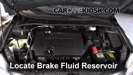 2012 Toyota Corolla LE 1.8L 4 Cyl. Brake Fluid Check Fluid Level