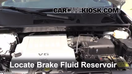 2012 Toyota Highlander 3.5L V6 Brake Fluid Check Fluid Level