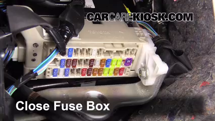 Interior Fuse Box Location 2012 2017 Toyota Prius C