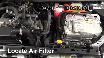 2012 Toyota Prius C 1.5L 4 Cyl. Air Filter (Engine) Check