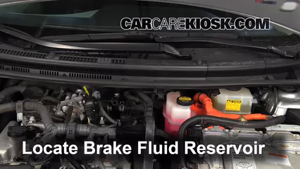 2012 Toyota Prius C 1.5L 4 Cyl. Brake Fluid Check Fluid Level