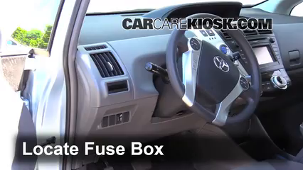 Fuse Interior Part 1 2012 2016 toyota prius v interior fuse check 2012 toyota prius v 2010 prius interior fuse box at aneh.co