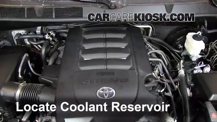 coolant level check 2008 2017 sequoia 2012 toyota sequoia sr5 4 6l v8 rh carcarekiosk com Toyota Engine Parts Diagram 2012 Toyota Tundra Engine Diagram