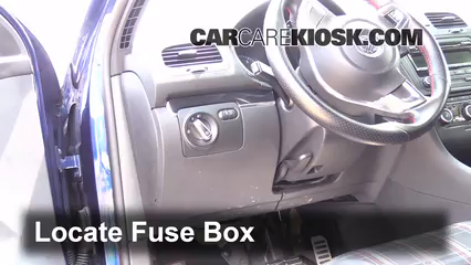 interior fuse box location 2007 2016 volkswagen eos 2012 2002 Ford Focus Fuse Box Diagram locate interior fuse box and remove cover