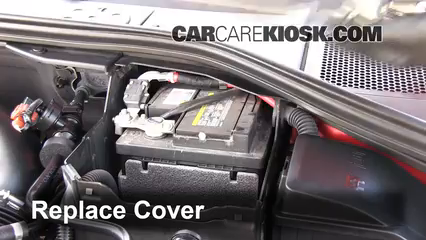 battery replacement 2011 2017 volvo s60 2012 volvo s60 t5 2 5lreplace cover ensure the cover is put back properly