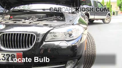 2012 BMW 528i xDrive 2.0L 4 Cyl. Turbo Luces Luz de estacionamiento (reemplazar foco)