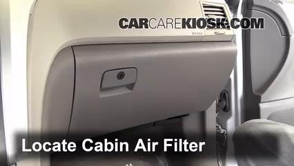 2012 Chevrolet Traverse LS 3.6L V6 Filtro de aire (interior)