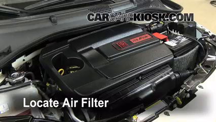 2012 Fiat 500 Pop 1.4L 4 Cyl. Air Filter (Engine) Check