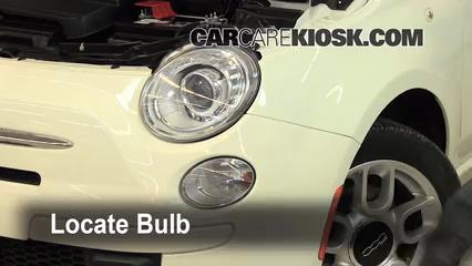2012 Fiat 500 Pop 1.4L 4 Cyl. Lights Headlight (replace bulb)