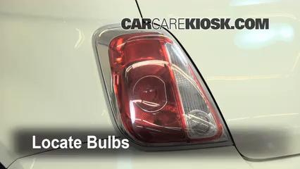 2012 Fiat 500 Pop 1.4L 4 Cyl. Lights Tail Light (replace bulb)