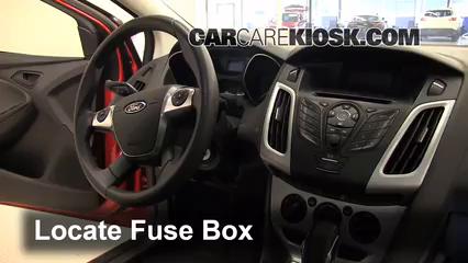 Interior Fuse Box Location 2012 2018 Ford Focus 2012 Ford Focus Se 2 0l 4 Cyl Sedan