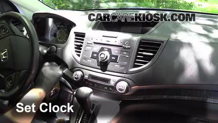 2012 Honda CR-V EX-L 2.4L 4 Cyl. Clock