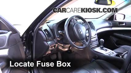 2012 Infiniti G25 X 2.5L V6 Fusible (interior)