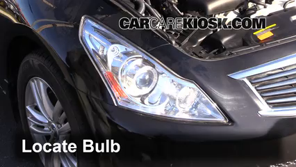 2012 Infiniti G25 X 2.5L V6 Lights Daytime Running Light (replace bulb)
