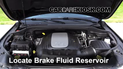 2012 Jeep Grand Cherokee Limited 5.7L V8 Brake Fluid Check Fluid Level