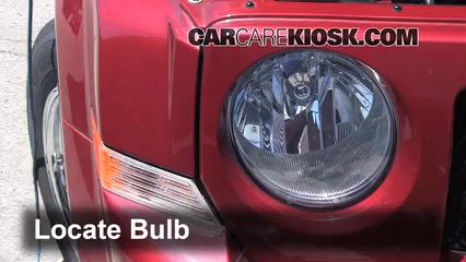 2012 Jeep Patriot Sport 2.0L 4 Cyl. Lights Headlight (replace bulb)