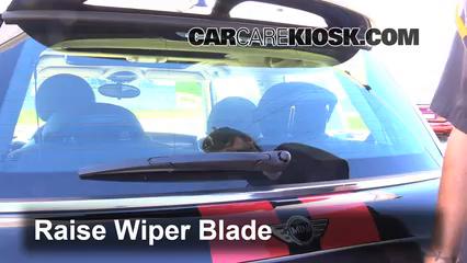 2012 Mini Cooper S 1.6L 4 Cyl. Turbo Hatchback Escobillas de limpiaparabrisas trasero