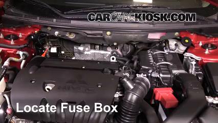 2012 Mitsubishi Lancer SE 2.4L 4 Cyl. Fusible (motor) Cambio