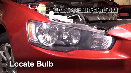 2012 Mitsubishi Lancer SE 2.4L 4 Cyl. Luces Luz de estacionamiento (reemplazar foco)