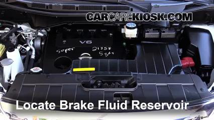 2012 Nissan Quest SV 3.5L V6 Brake Fluid