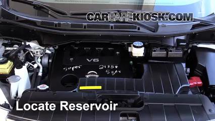 2012 Nissan Quest SV 3.5L V6 Windshield Washer Fluid